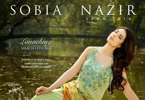 Sobia Nazir Lawn 2014