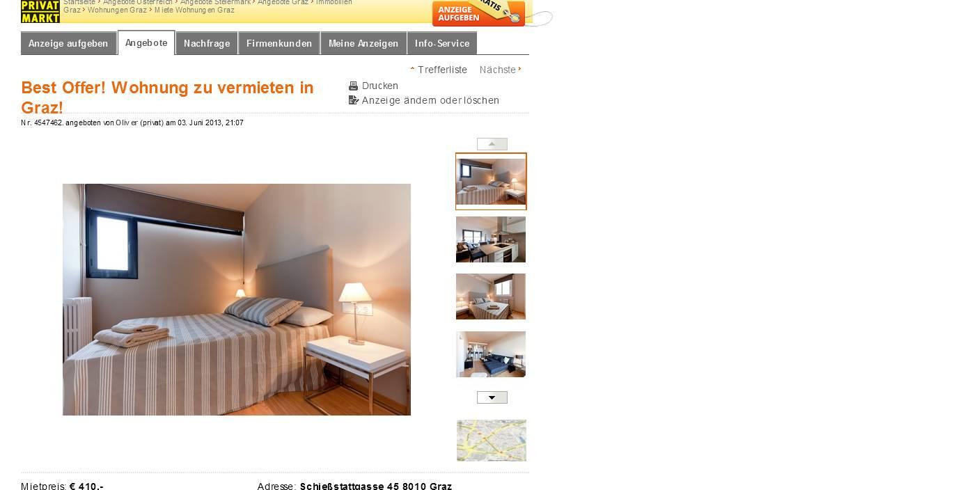 best offer wohnung zu vermieten in graz brockmanngasse 26 8010. Black Bedroom Furniture Sets. Home Design Ideas