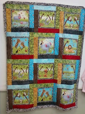 Baby Quilt Patterns Jungle Animals | Gold Trading