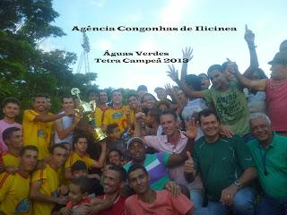 Águas Verdes Campeã de Futebol em Ilicínea