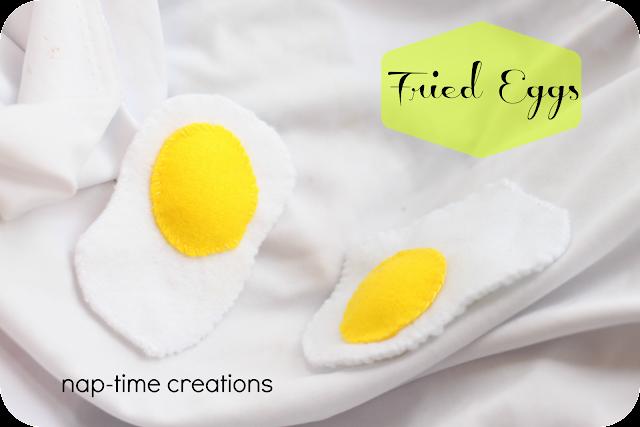 felt food eggs