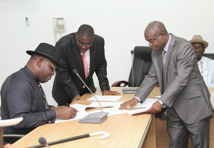 Image result for Governor Dickson signs Budget of N299 billion