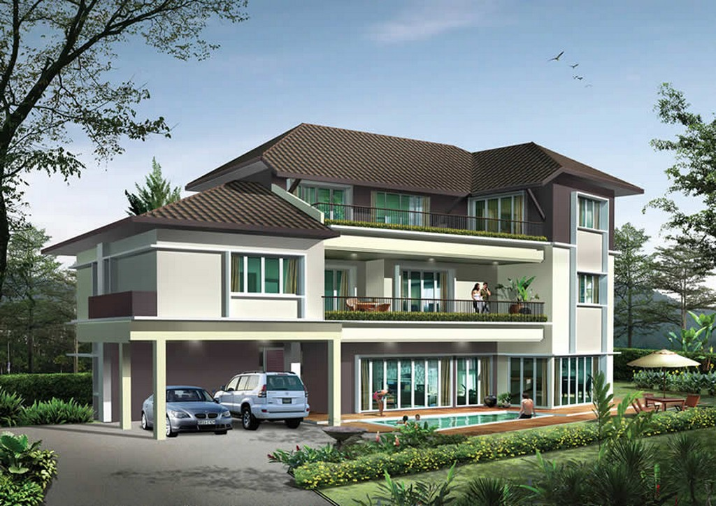 New home designs latest modern homes exterior beautiful designs ideas Home architecture malaysia