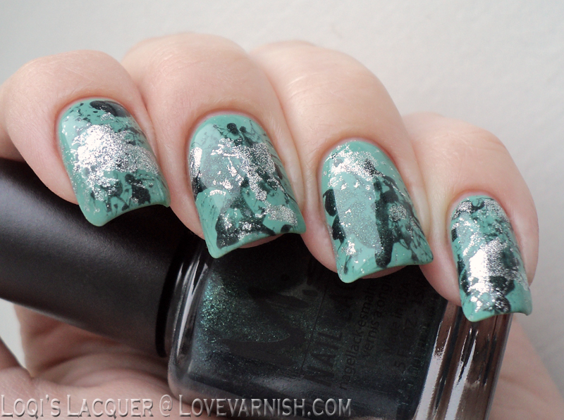 Mint splatter nailart herome misa toxic seduction