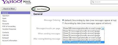 Options - Yahoo! Mail 5
