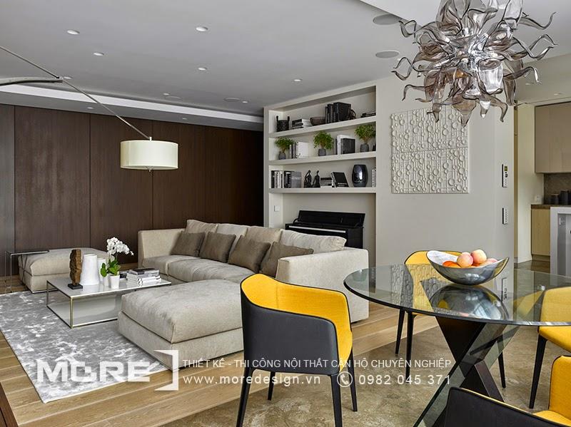 Nội thất phòng khách sang trọng và hiện đại