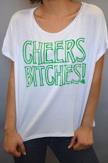 cheers bitches saint patricks day tee