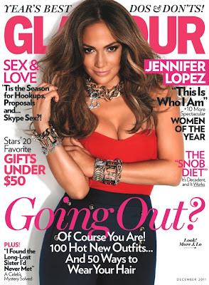 Jennifer Lopez en Couv' de Glamour Magazine