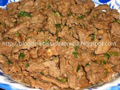 fácil de Fazer Carne com gengibre Gyuniku no Shogayaki Receitas