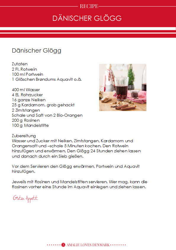 Amalie loves Denmark Rezept Dänischer Glögg