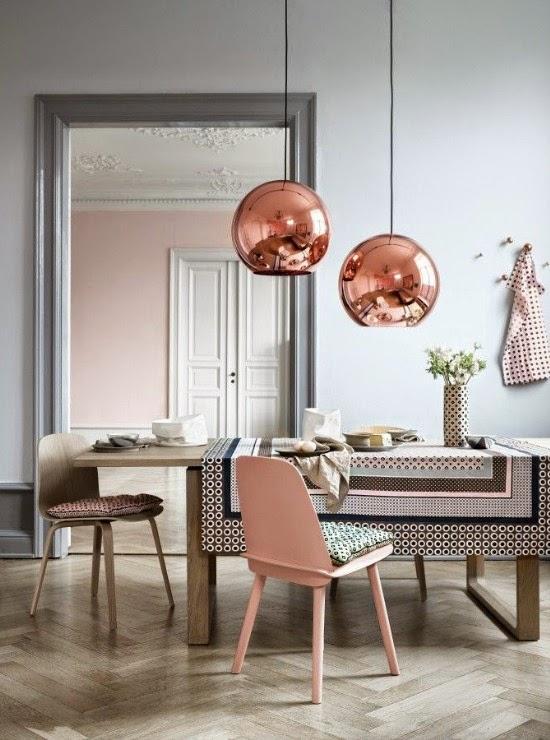 Colores pastel y cobre, la unión perfecta para crear armonía