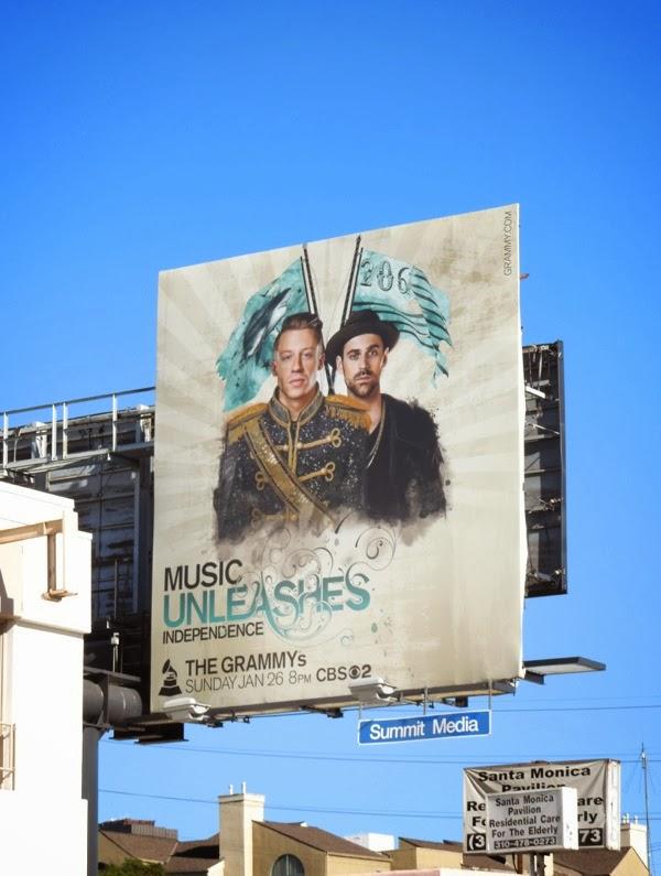 Macklemore Ryan Lewis Grammys 2014 billboard