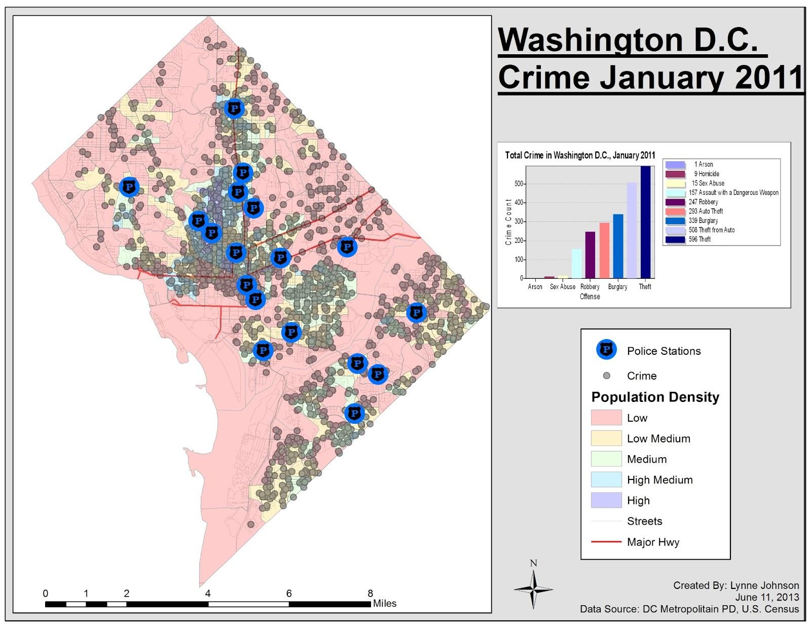GIS Blog: Applications in GIS, Lab 5: HLS - Washington D.C. Crime on