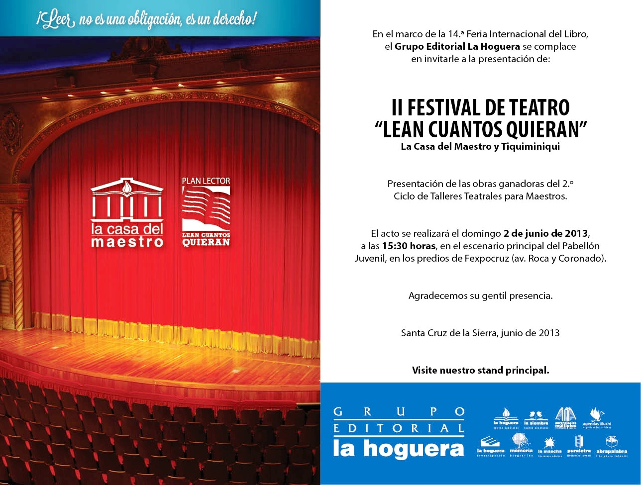 La casa del maestro ii festival de teatro estudiantil lean cuantos quieran - La casa del maestro ...