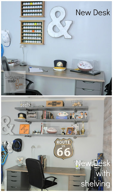 Teen Boy's Room with Industrial Inspired Theme :: OrganizingMadeFun.com