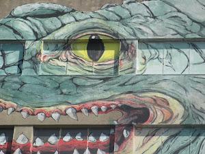 Detalle del mural de ERICA IL CANE