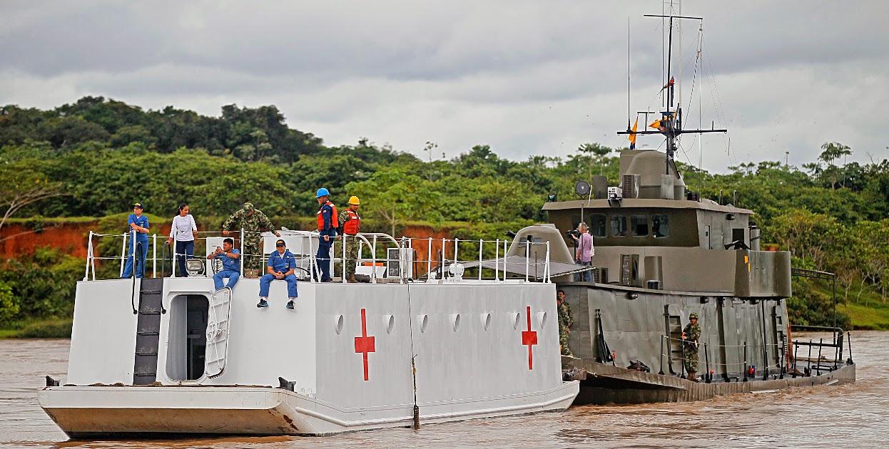 Luego de superar un ataque terrorista por parte de las Farc, buques de las armadas de Colombia y Ecuador iniciaron la IV Jornada Binacional para llevar ayudas y asistencia a los habitantes de comunidades ribereñas de los dos países