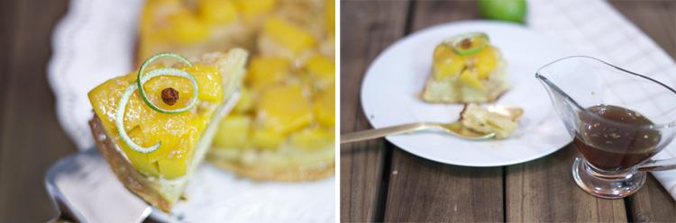 tatin3 Bizcocho invertido de Mango y Guindilla