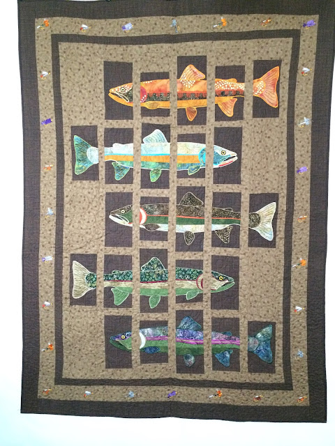 Patty Foret's Trout Quilt