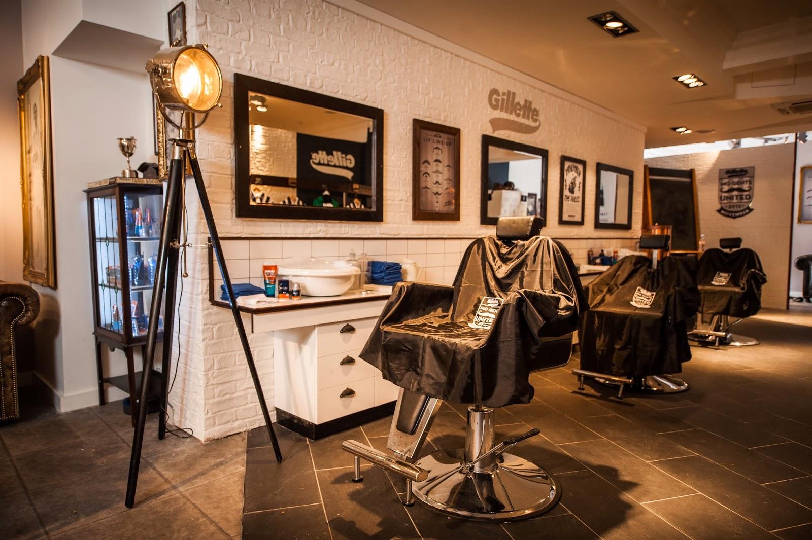 London pop ups gillette 39 s movember pop up barbershop in for Interior stylist london