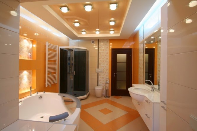 Latest tips for false ceiling designs for bathroom interior, bathroom ceiling with spot lights
