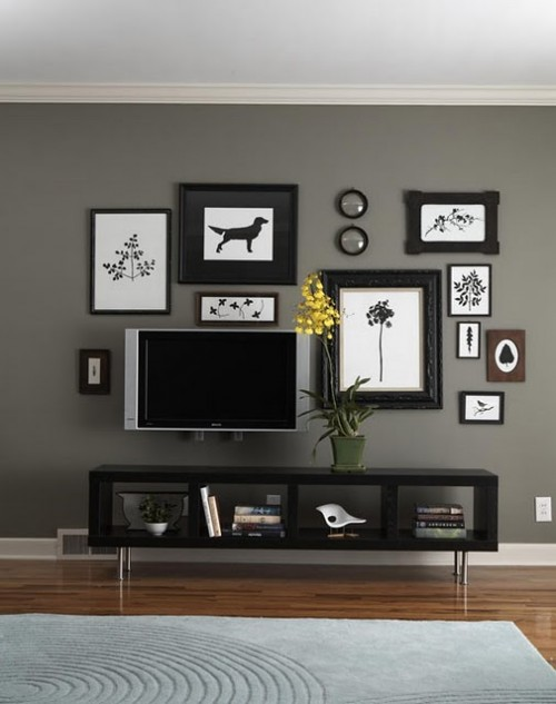 Decorating Around Flat Screen Bungalow Home Staging
