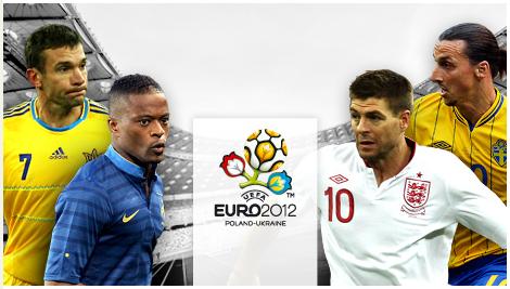 England vs France Euro 2012 football match
