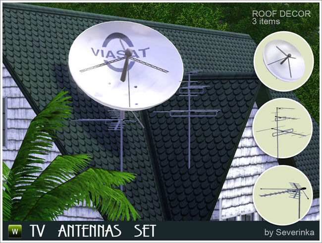 My Sims 3 Blog Tv Antennas And Satellite Dish By Severinka