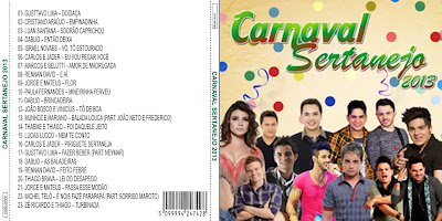 Capa CD CARNAVAL SERTANEJO 2013