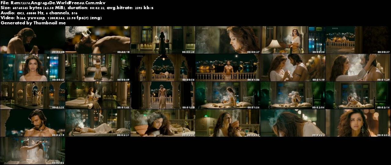 Ang Laga De - RamLeela (2013) Video Song 720P HD | WorldFree4u.Com