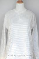 refashion project, turn a shirt into a cardigan