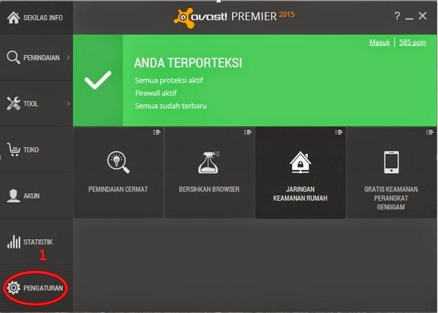 Cara Memberi Pengecualian Scan Avast Premier Pada File
