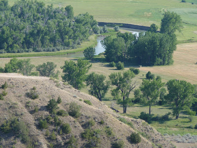looking down to the Little Bighorn