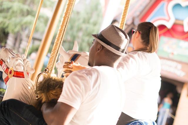 Disneyland Proposal on King Arthur's Carousel - John W Farrand Photography