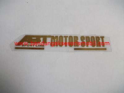 Emblem Alumunium Besar Gold ABT Motor Sport