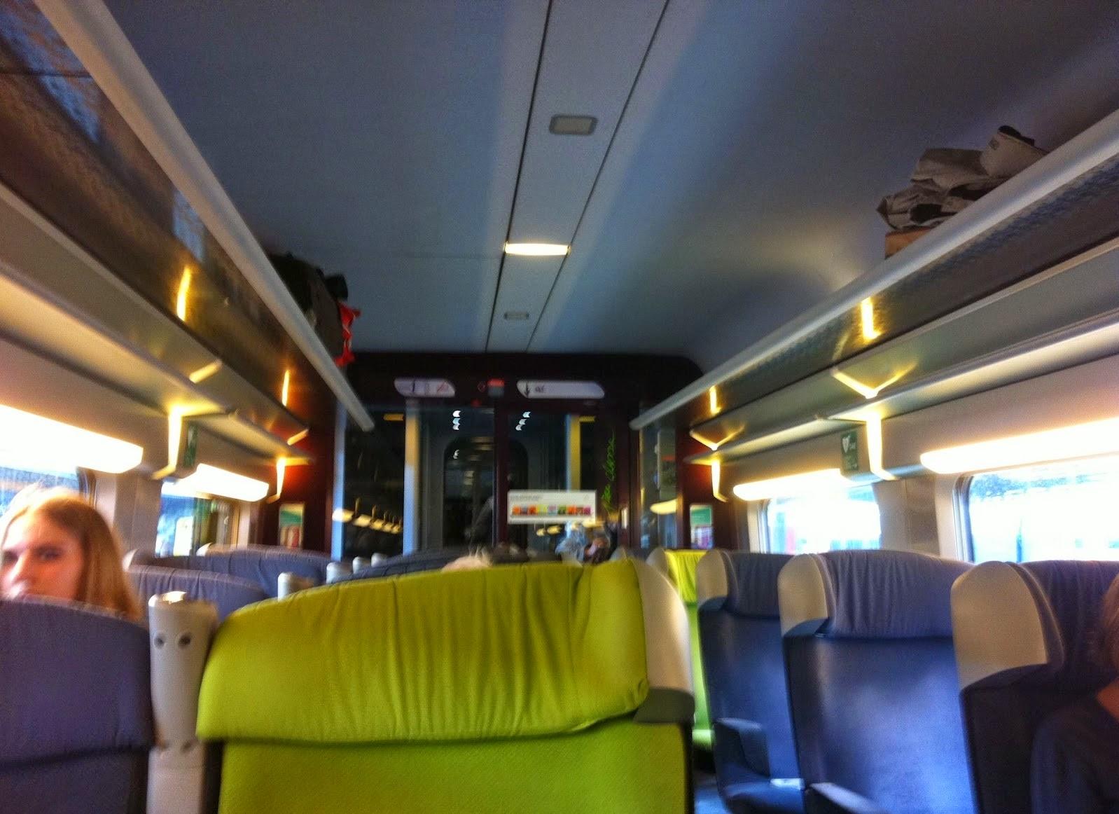 Европейский поезд. Первый класс.