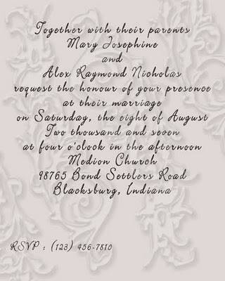 Free Wedding Invitation Wording