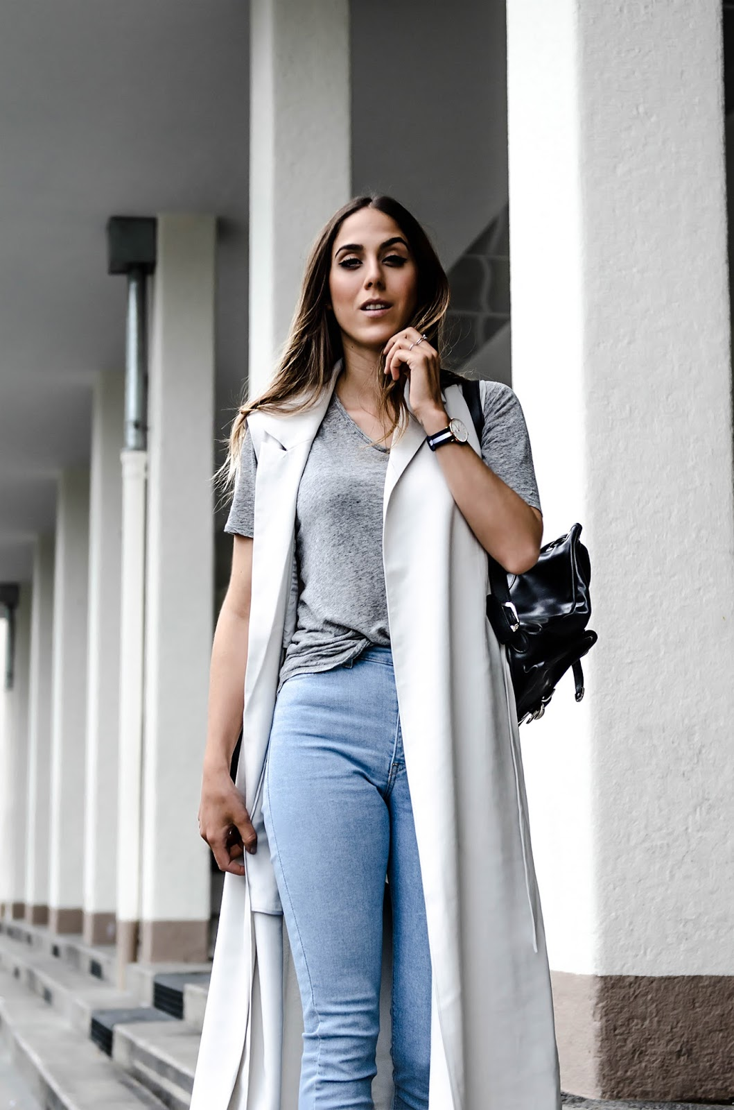 alison liaudat, blog from switzerland, blog mode suisee, daniel wellington, Fashion blogger von der Schweiz, h&m, hat, sleeveless trench, steve madden, suede trend spring 2015, swiss fashion blogger,