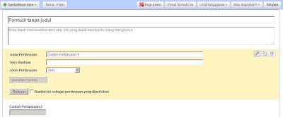 Tampilan Menu Google Docs