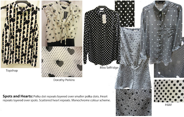 heart repeat, hearts, spots, polka dots, black and white