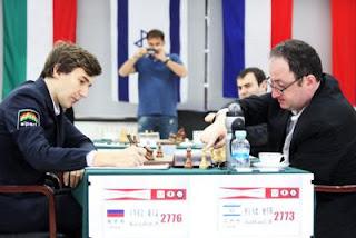 Echecs : Grand Prix de Beijing ronde 5 - Boris Gelfand (2773) 1/2 Sergey Karjakin (2776) - Photo Anastasiya Karlovich