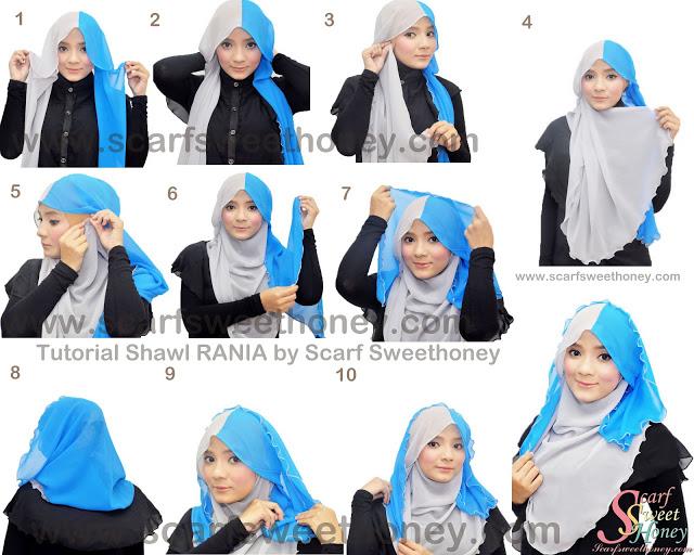 cara memakai hijab modern 7