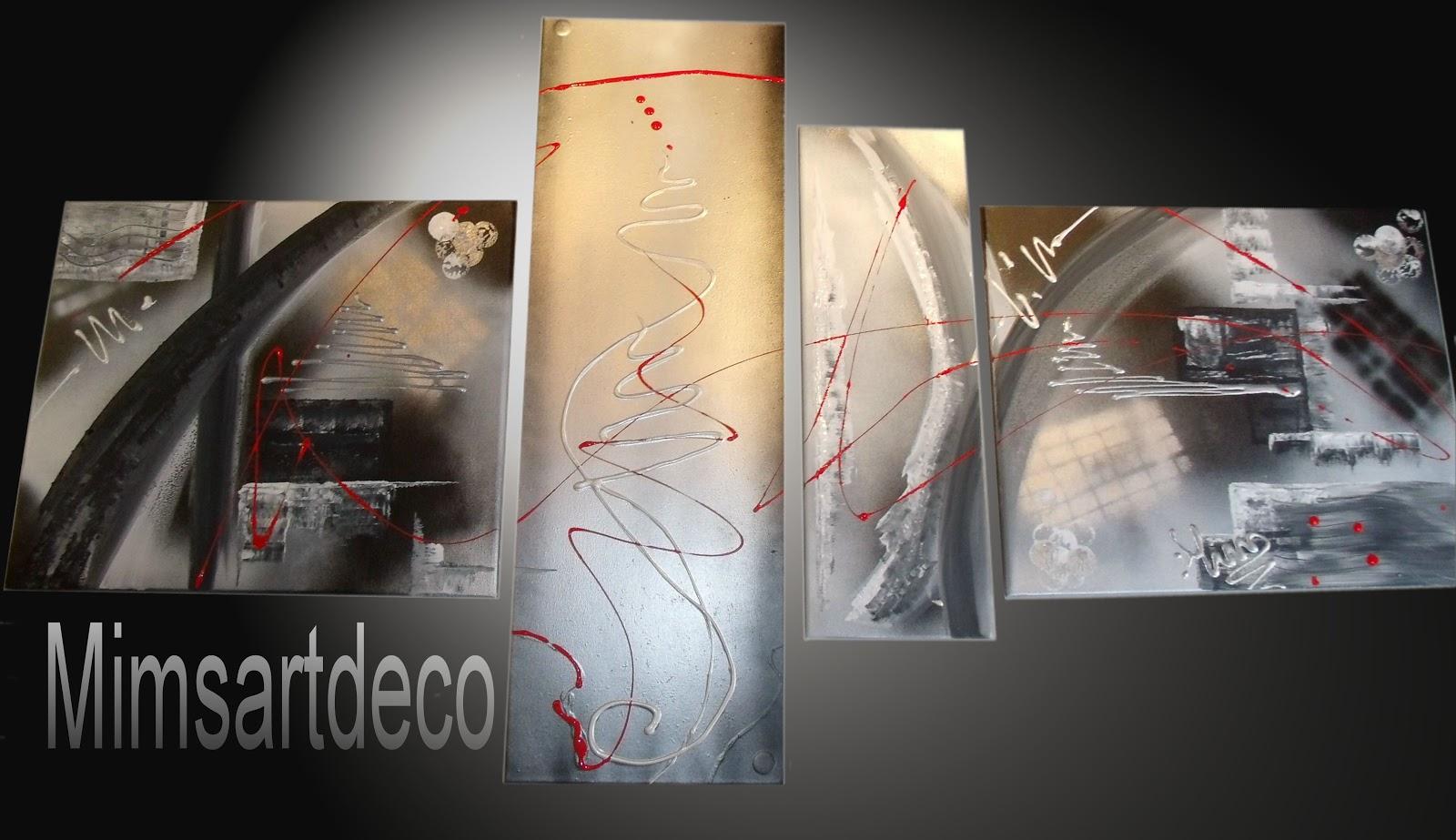 Tableaux moderne design tableaux abstrait - Tableau rouge noir gris moderne ...