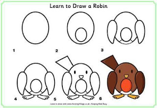 Cara Menggambar Burung