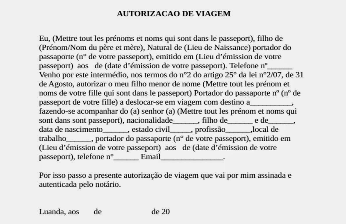 Connu DOC] Lettre Autorisation De Sortie FA19