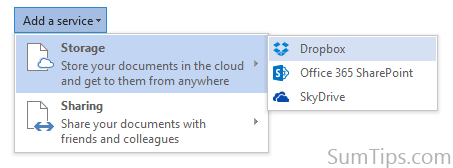 Dropbox Office 2013 cloud service