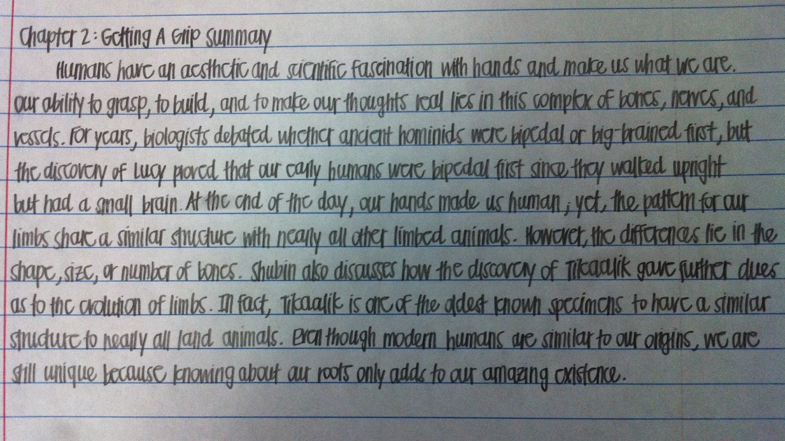 Ap biology your inner fish chapters 1 2 for Your inner fish summary