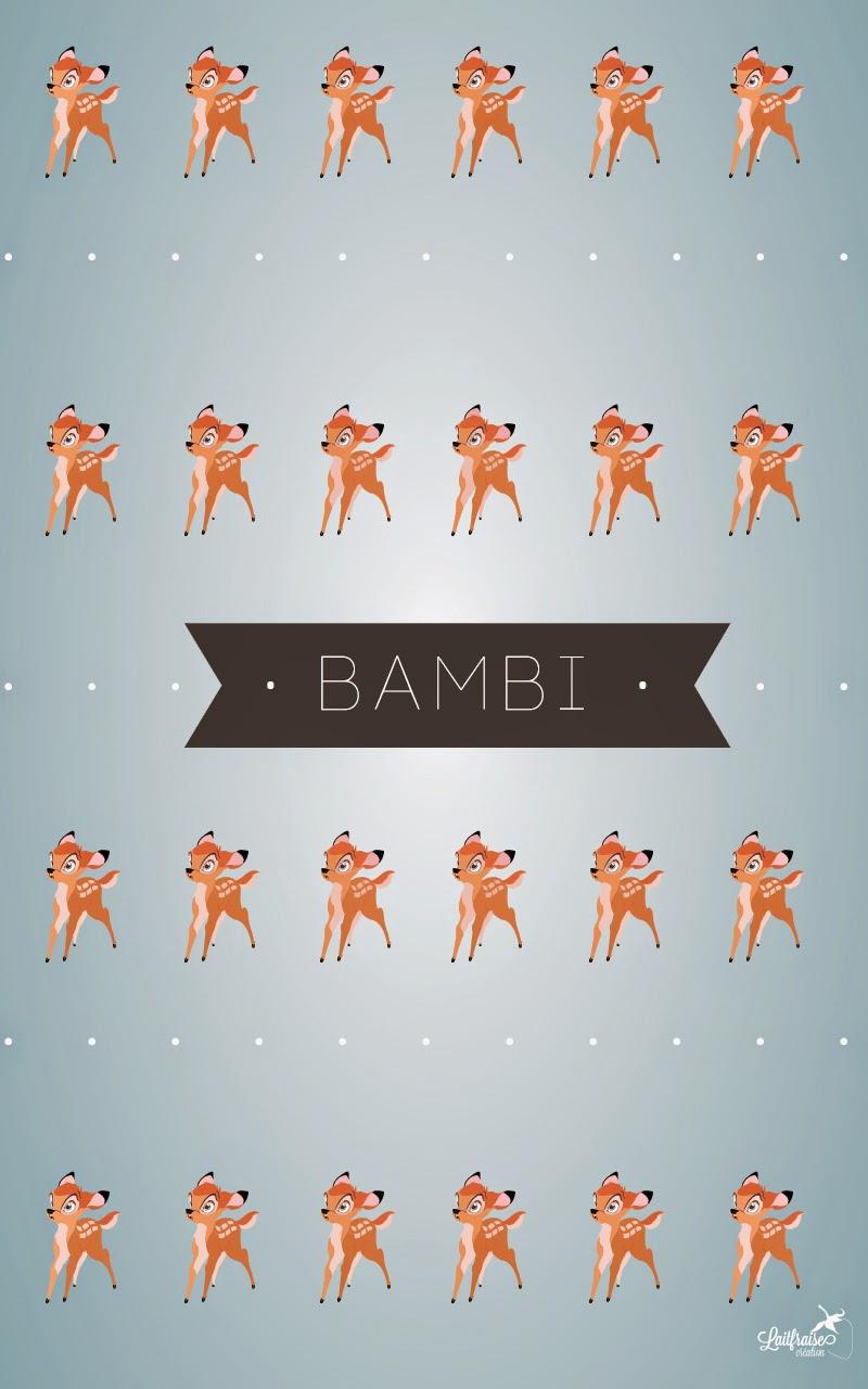 laitfraisecréation - fond d'écran bambi - télécharger