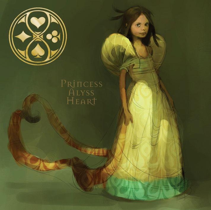 Dramatic Threads: Princess Alyss Heart Green Anime Fairy