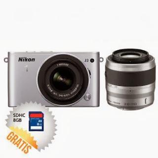 Nikon J3 Lensa Kit 10-30 mm dan 30-110 mm